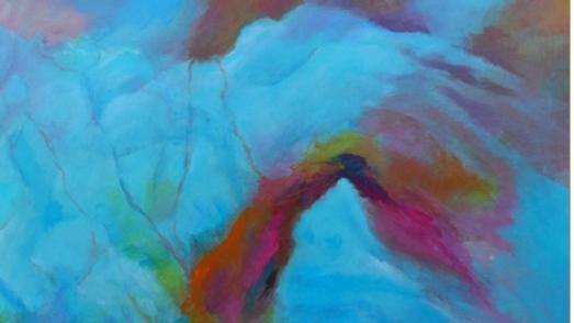Original Blue Horizon 30x30  Painting 50% Discount