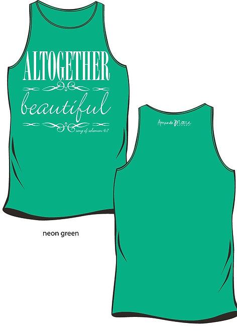 Altogether Beautiful Comfort Tank, Neon Green