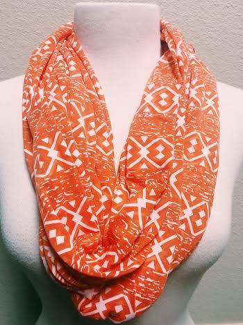 Orange You Cute Infinity Scarf, Aztech