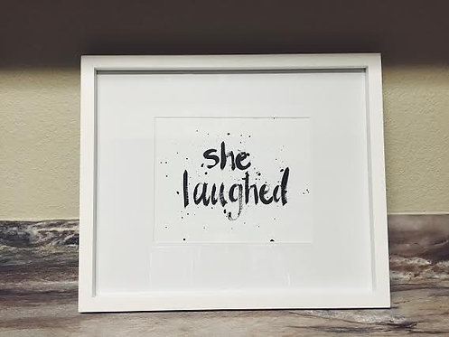She Laughed | Art Print