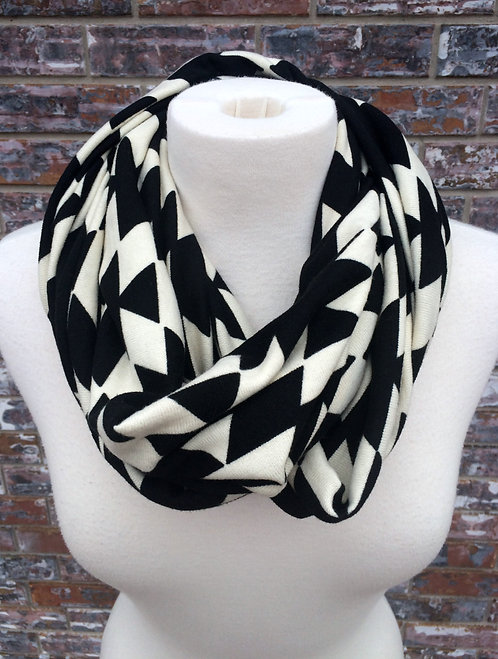 Over the Moon for Aztec Infinity Scarf, Blk/White