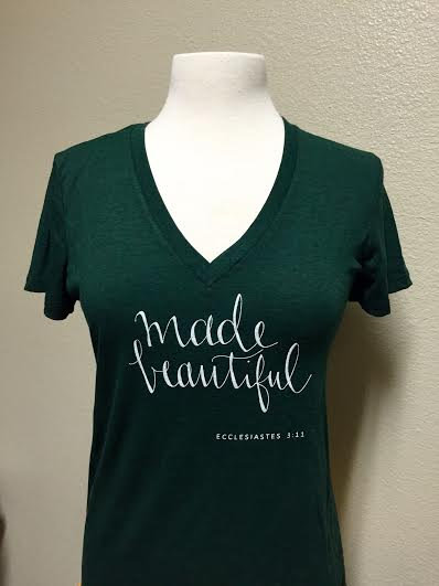 Made Beautiful Fitted Tee, Emerald