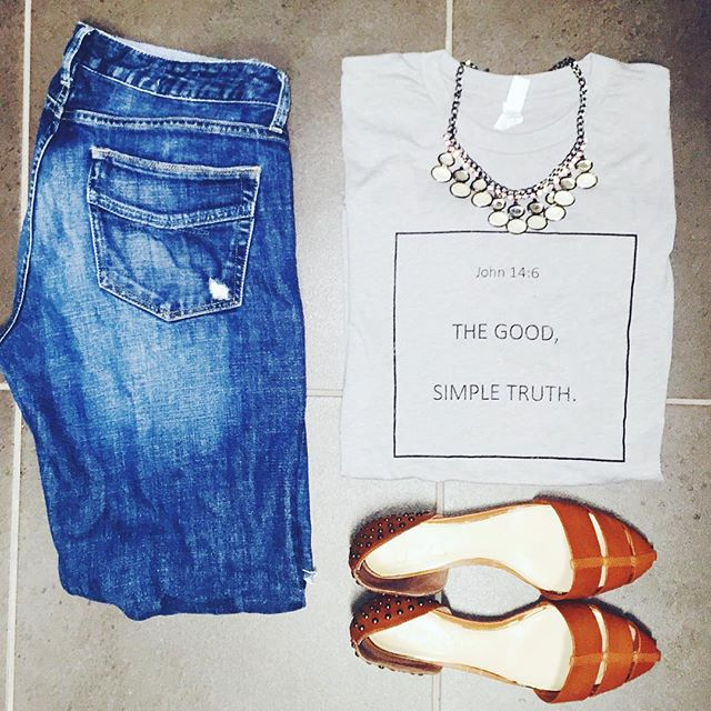 "Instagram - FRIYAY #ootd anyone?? 💙 Our ""good, simple truth"" tee is so soft! (l"
