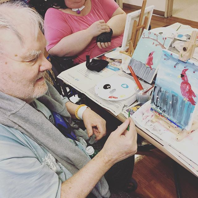 Awesome job painting at Squirrel Hill Rehabilitation #art #arthealinghearts #pgh #elderly #pittsburg