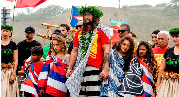 Jason Momoa joins protesters trying to keep a telescope off Hawaii's tallest mountain