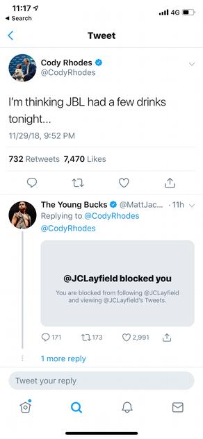 JBL Versus Cody Rhodes???