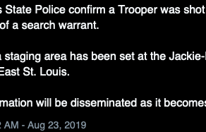Illinois state trooper shot while executing a warrant in East St. Louis