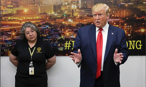 NONE of the shooting victims at El Paso hospital Donald Trump visited would meet with him