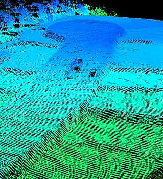 3D Point Cloud viewed through Lidarviewer