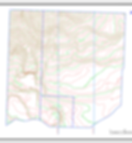 Contour map produced using drone lidar d