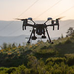 inspection drone doing inspection on powerline