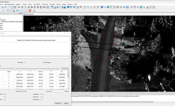 LiDAR scan proofing QC through software