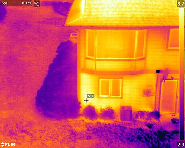 thermal image of residential building