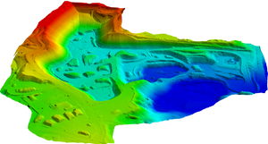 Digital elevation model produced from final classified 3D point cloud from Photogrammetry