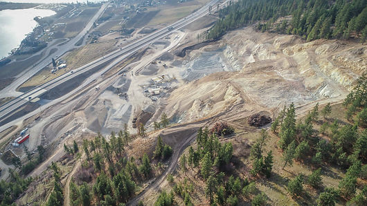 aerial view of a quarry in BC