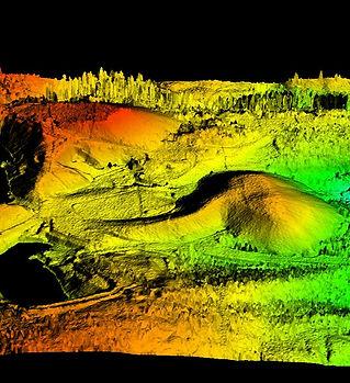 DEM of mine mappd using Drone LiDAR