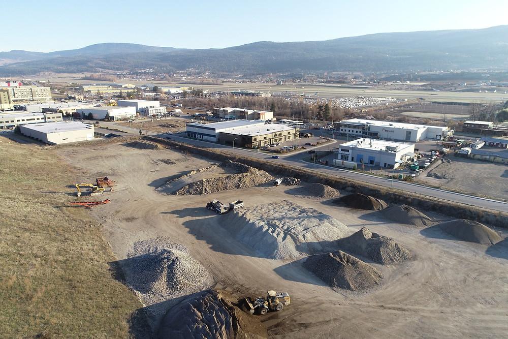 Gravel pit 400 meters west of Kelowna international airport