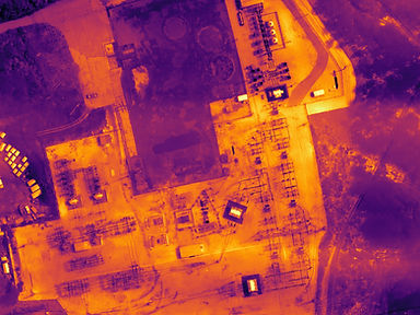 thermal map of substation