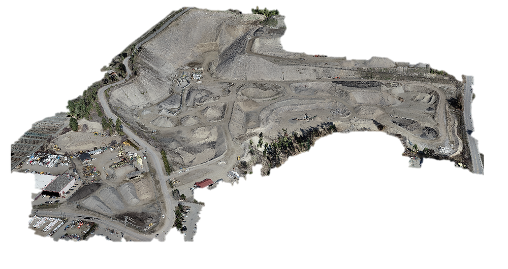 Isometric view of 3D point cloud produced using photogrammetry