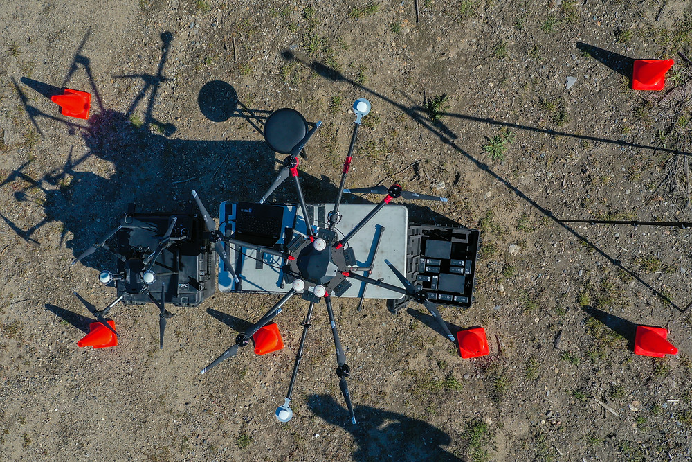 top down view of Drone LiDAR launch site