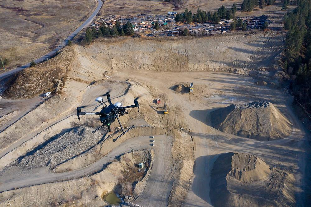 Rekon drone mapping a gravel pit