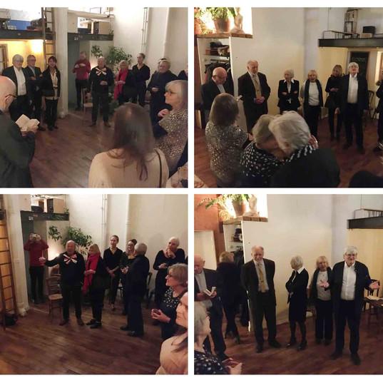 Notre traditionnelle rencontre annuelle « Oplatek » a eu lieu le 11 décembre 2019 à Gentilly, dans « l'AtelierVie » de nos ami(e)s Agnieszka Pawlowska et de son mari Loup d'Avezac de Castère, architectes
