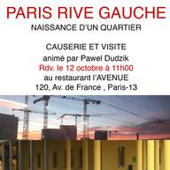 Paris Rive Gauche & causerie et visite