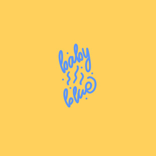 Baby Blue calm typogrpahy hand lettering