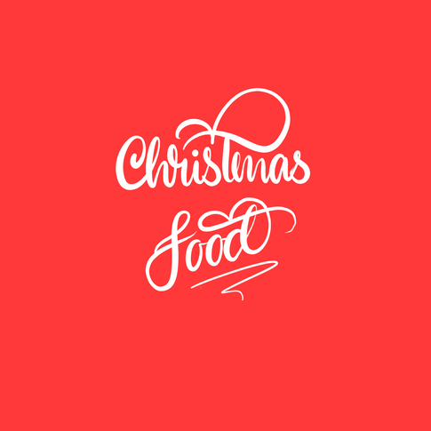 Christmas Food hand lettering typography
