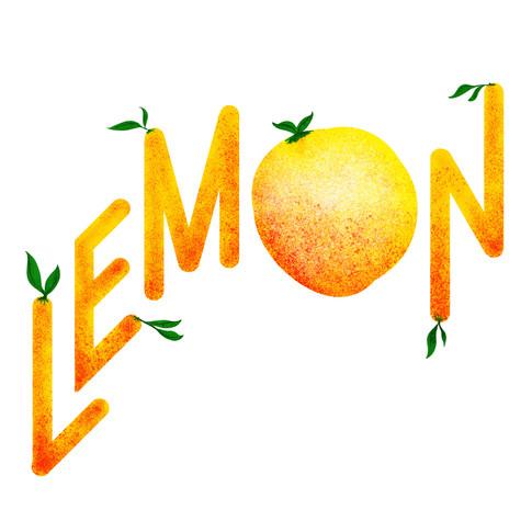 Lemon typography