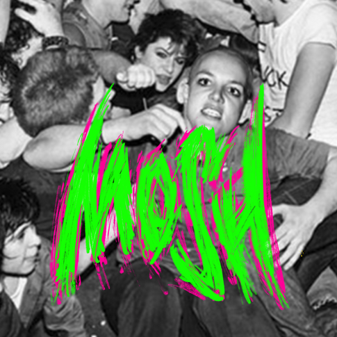 MOSH scratchy typography hand lettering