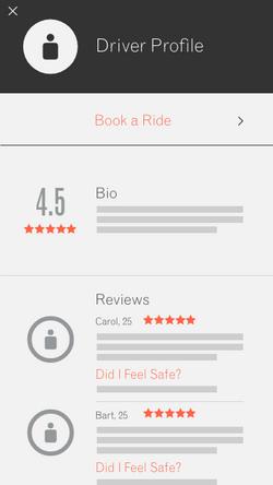 Driver Profile - Book Ride