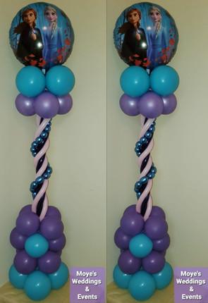 Frozen Balloon Centerpiece