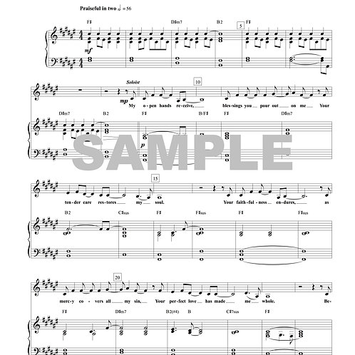 Thankful Heart Sheet Music