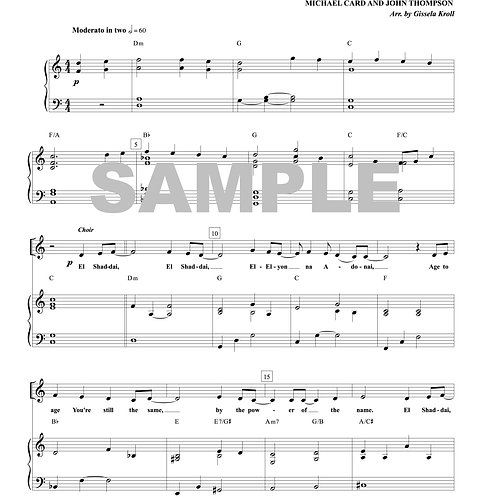 El Shaddai Sheet Music