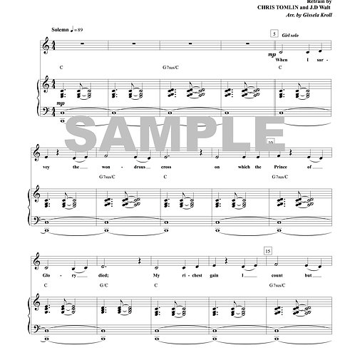 Wonderful Cross Sheet Music