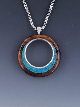 Sterling circle pendant B22