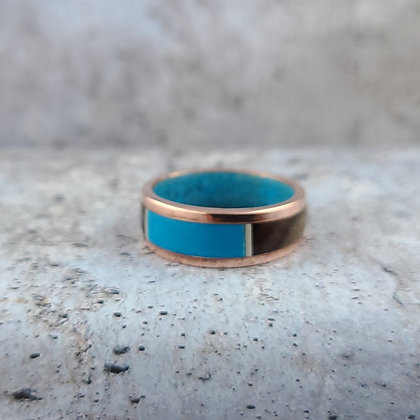 copper and turquoise ring size 12