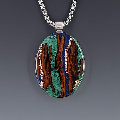 large oval pendant 72014