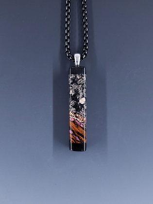 Flower obsidian pendant B19