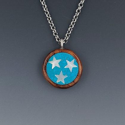 tri-star TN pendant turquoise- small
