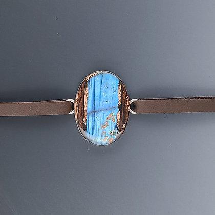 labradorite oval bracelet