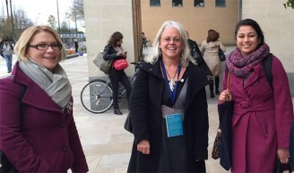 """Maggie Berry (WEConnect), Laurie Adams (Oxfam), and Sumana Hussain (Department for International Development, UK) are just a few of the potential """"crossovers"""" from the multiple sectors included at Power Shift."""