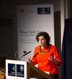 Think a speech on international trade is dry, with no interest for the women's movement? Think again. Arancha González, Executive Director of the International Trade Center, delivers her forceful argument.