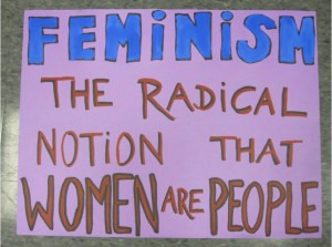 Handmade posters were used to convey the feminist message during the Second Wave of the American women's movement. This poster epitomizes the kind of homemade communication that came to be associated with the movement.