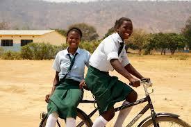 Bike Pooling to school on a rugged Buffalo Bike Photo: World Bicycle Relief