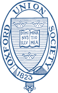The Oxford Union logo is nearly identical to the University of Oxford logo, adding further to the impression that they are the same institution.