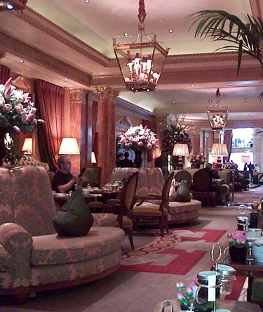 The lounge at the Dorchester, where I held a meeting before the luncheon, was pure luxury. See all those flowers? The lilies in those arrangements sent a fragrance through every corner of the room. Fabulous.