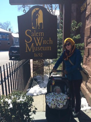 Nova was three months old when Liza came to visit. Since we were just up the road--and we love this stuff--we drove up the road to the Salem Witch Museum.