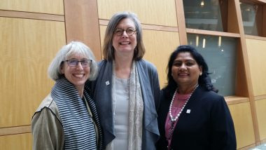 Iva Kaufman, our guest blogger, (left of picture), with Power Shift founder Linda Scott (middle of picture) and Naila Chowdhury, Women4Empowerment (on the right)